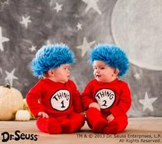 Baby Thing 1 and Thing 2 Halloween Costumes!  #pintowingifts