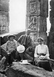 James Henry Breasted with wife Frances Hart Breasted and son Charlie (1906) Amada temple  Nubia