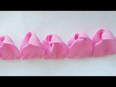 Kanzashi Tutorial, Ribbon Flower Tutorial, Ribbon Embroidery Tutorial, Silk Ribbon Embroidery, Bow Tutorial, Hand Embroidery, Zipper Flowers, Satin Ribbon Flowers, Ribbon Art