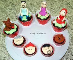 Cupcakes e mini-cupcakes Chapeuzinho vermelho