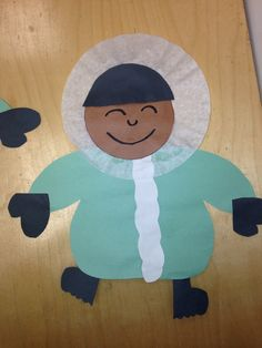 Little Eskimo boy with coffee filter for the parka by:ps2