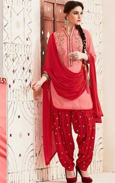 Picture of Lovable Salmon Patiala Salwar Suit