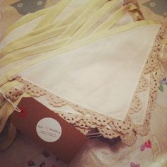 Win this pretty preloved vintage napkin bunting. Simply like our Facebook page (Sell My Wedding) and say where you would hang it...