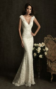 Allure Bridals 8903 Vintage Lace Wedding Dress...if I could wear this and look this good, I would!