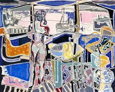 Patrick Heron 'Harbour Window with Two Figures : St Ives : July 1950', 1950 ©…