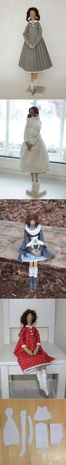 Тильды Юлии Родионовой с выкройкой от автора Куклы Тильда от Марины Боричевской. Выкройки.