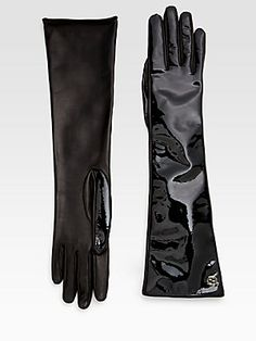 All about #patent - #Gucci Patent Leather Gloves