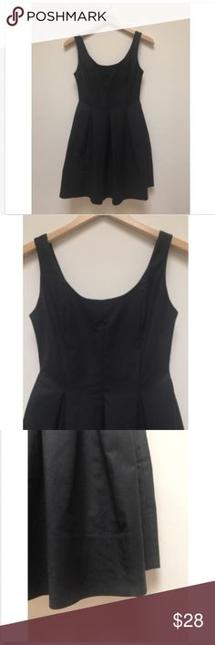 Gap Black Sleeveless Pleated Fit & Flare Dress Gap Black Sleeveless Pleated Fit and Flare Dress New 97% Cotton, 3% Spandex Measurements approximate:  (Garment is lying flat and unstretched) Armpit to Armpit: 15', Shoulder: 14', Waist:13', Length from top: 32' GAP Dresses
