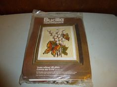 Bucilla Pussy Willows Butterfly Needlepoint Kit by BathoryZ, $39.00