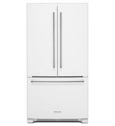 Kitchenaid Refrigerator White kitchenaid - 20.0 cu. ft. counter-depth french door refrigerator