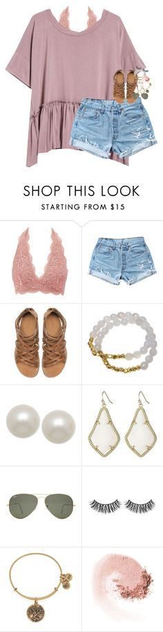 """i restarted pll"" by classynsouthern ❤ liked on Polyvore featuring Charlotte Russe, Levi's, Zara, Electric Picks, Honora, Kendra Scott, Ray-Ban, Rimini, Alex and Ani and NARS Cosmetics"