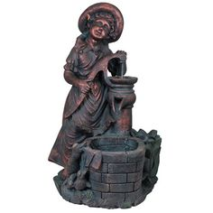 Features:   Product Measures: 32x20x14.5 inch  Made from quality materials  Includes LED light   Description:  Check out this antique styled Girl Fountain with Led Light that will give vintage feel to your home. Made from quality materials this decorative is easy to maintain and will remain in great condition for ages. Featuring young girl wearing a hat and lost in her dreams leaning on a hand pump and a small well ahead that has bricks type texture this decorative will steal the…