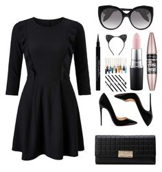 """""""Untitled #11"""" by grace-orourke ❤ liked on Polyvore featuring Miss Selfridge, Christian Louboutin, Alexander McQueen, Cara, Maybelline, MAC Cosmetics and Givenchy"""