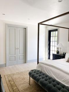 Bedroom Door Design, Bedroom Doors, Home Bedroom, Master Bedroom, Master Bath, Double Pocket Door, Sliding Pocket Doors, Double Doors, Door Furniture