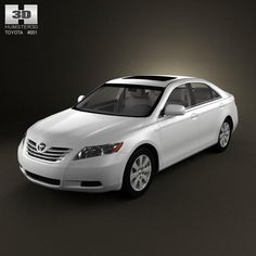 Toyota Camry Xv40 2008 With Hq Interior 3d Model Ad Camry Toyota Model Interior Toyota Camry Camry Toyota