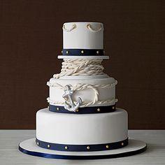 Wedding Cakes: Anchors Away