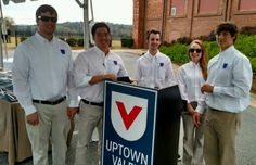 Uptown Valet crew and the standard valet podium
