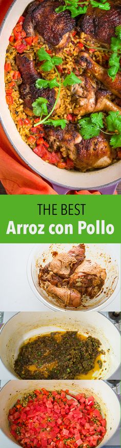 My tricks for making the BEST Arroz con Pollo, an easy and delicious one-pot meal.