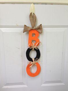 Easy Halloween #BOO! Wreath #DYI