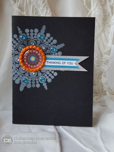 Rockin Paper Scissors and Glue: Circle Artist Challenge; Celebrate kit #clubscrap