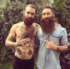 Two amazing beards. Bigger is better. Tag to be featured. #beard #beards #beardy #bearded #beardedman #beardedmen #beardedgentleman #beardlife #beardlove #beardlover #beardporn #beardsandtattoos #beardsofinstagram #beardstagram #instabeard #teambeard #beardclub #allthebeards #fortheloveofbeards #Bristlr #ShowUsYourBristles #BareYourBeard