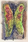 1970 Quebec Mix Media Watercolor  Ink Painting Plume LATRAVERSE