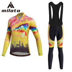 Miloto Cycling Jersey Sets Winter Polyester Cycling Suit Women s Long  Sleeve Bicycle Cycling Clothing Bike Wear Ropa Camisa Set ~ Shop 4 Xmas n  Locate this ... 1e869dc46