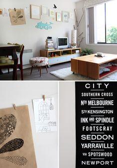 The Melbourne Home of Lara Cameron. Via The Design Files.