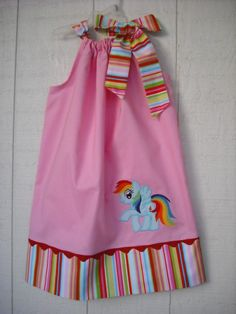 My Little Pony Rainbow Dash Pillowcase Dress. $28.00, via Etsy.