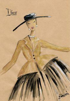 Vintage Dior 6 x 9  Fine Art Print by YellowRoseDBS on Etsy