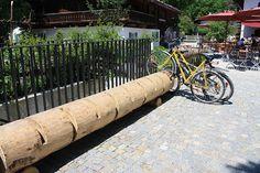 bike rack log by another kind of nerd, via Flickr