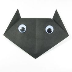 How to make an easy origami cat (http://www.origami-make.org/easy-origami-cat.php)