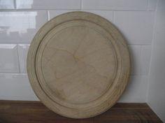 "Vintage Carved Bread Board 12"" Diameter - In Excellent Condition. £15.00, via Etsy."