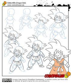 Goku Drawing, Ball Drawing, Dbz Drawings, Drawing Sketches, Anime Kunst, Anime Art, Easy Disney Drawings, Teaching Drawing, Manga Dragon