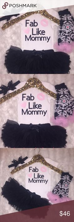 Costume onesie bundle ⚜️💝 Custom onesie have different sizes. Come with headband, leggings and black tutu. Offers are accepted. One Pieces Bodysuits