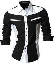 Hot Sale Mens Stylish Casual Shirts Slim Fit Business Uniform Fashion Designed 4 Color S M L XL XXL Z018(China (Mainland))