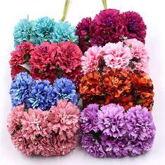 Marigold 6pcs/bunch 3.5cm Mini Daisy Flower Bouquet