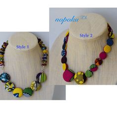 African Jewelry, Ankara Button Necklace, Colorful Necklaces, Statement Jewelry, Button necklaces, Artisan Necklace,Teenager gift,Accessories