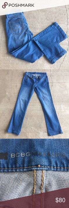 BCBG Max Azria Straight cut jeans EUC Questions and offers welcome, measurements available on request! BCBGMaxAzria Jeans