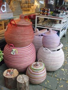 deco reed baskets with lids