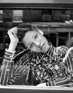 Lineisy Montero, the face of 2016, strolls sunny East London in the new season's best floral looks/ Photographs by Quentin de Briey/Fashion by Maya Zepinic