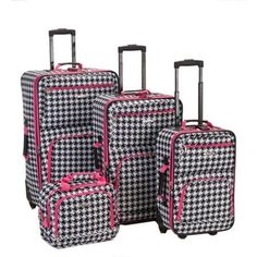 4 Piece Carry-On Travel Wheeled Rolling Expandable Suitcase Luggage Se – Vick's Great Deals
