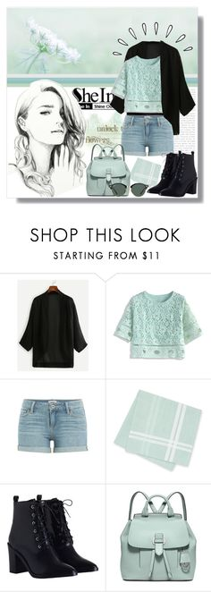 """""""SheIn - Black Chiffon Kimono"""" by angelstylee ❤ liked on Polyvore featuring Chicwish, Paige Denim, Zimmermann, Michael Kors, Old Navy and Ray-Ban"""