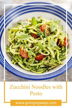 Zucchini might just be the most versatile squash in the produce aisle, capturing the hearts of veggie lovers everywhere for its ability to step in for many other ingredients in favorite recipes. These naturally gluten-free noodles clock in at just about 20 calories per cup, making them a great choice for pasta lovers who are looking to cut calories. Zucchini Noodles With Pesto, Zucchini Noodle Recipes, Vegetarian Cooking, Vegetarian Recipes, Healthy Recipes, Italian Diet, Gluten Free Noodles, Homemade Pesto, Delicious Dinner Recipes