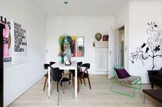 House Call: An Artist's Budget Remodel : Remodelista Birch Floors, London House, Dining Room Inspiration, Home Comforts, Inspired Homes, Coups, Home And Living, Sweet Home, Interior Design