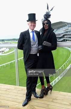 Milliner Philip Treacy and Grace Jones attend day five of Royal Ascot at Ascot Racecourse on June 2013 in Ascot, England. Ascot England, Grace Jones, Philip Treacy, Royal Ascot, June 22, Lady And Gentlemen, Glam Rock, Amazing Grace, Stock Pictures