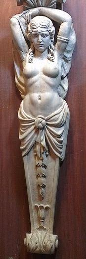 кариатида на портал   Резьба по дереву, кости и камню