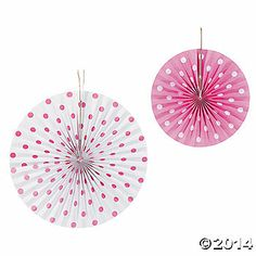 Pink Polka Dot Hanging Fans - make them with your paper of choice, to suit your decor. Polka Dot Theme, Polka Dot Party, Pink Polka Dots, Tulle Poms, Pink Tulle, Scentsy, Doc Mcstuffins Party Supplies, Carnival Supplies, Old Fashioned Games