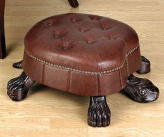Tortoise-Foot-Stool-leather-design | pouf - ottoman ...
