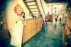 bamboo yoga reception desk